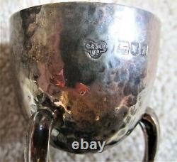 1906 Arts and Crafts Solid Silver Egg, spoon and napkin ring set Goldsmiths Co