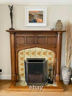 1920s Arts and Crafts Oak Fire Surround/Mantlepiece