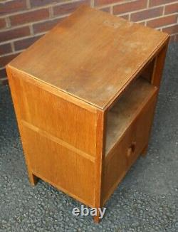 1940s Arts and Craft Oak Bedroom Suite. Drawers, Cabinet and Dressing Table