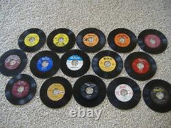 25 Juke Box 45's For Crafts and Decoration! Lot Art 45 RPM 7