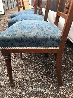 4 Scottish Arts and Crafts Dining Chairs Ruskin Style Stone In Lay 1906