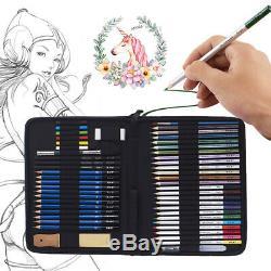 51pcs Professional Drawing Artist Kit Set Pencils and Sketch Charcoal Art & Bag