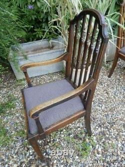 7 Dining chairs 6+1. Shoolbred, Arts and crafts, oak, excellent condition