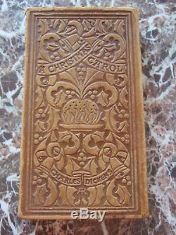 A Christmas Carol In Prose, 1904, Charles Dickens, Arts and Crafts, Leather, Signed