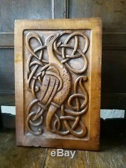 A Super Carved Celtic Knot Arts And Crafts Panel