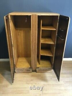 A very stylish Arts and Crafts tall boy/small gents robe in oak circa 1930