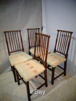 ANTIQUE LIBERTY of LONDON ARTS & CRAFTS OAK DINING CHAIR SET ARTS AND CRAFTS