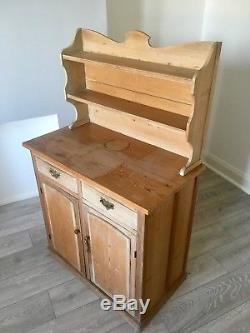 ANTIQUE PINE Arts And Crafts DRESSER / VICTORIAN PINE SIDEBOARD CUPBOARD