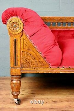 Aesthetic Movement / Arts and Crafts Oak Chaise Longue / Daybed (1008920)