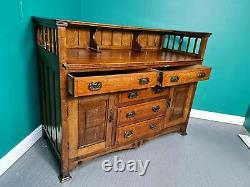 An Antique Arts and Crafts Oak Sideboard Buffet Delivery Available