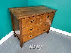 An Antique Arts and Crafts Solid Oak Chest of Drawers Delivery Available