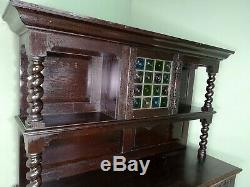 An Antique Arts and Crafts Solid Oak Dresser Sideboard Delivery Available