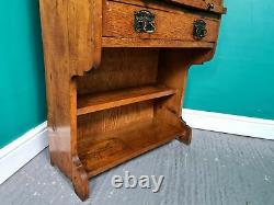 An Antique Oak Arts and Crafts Small Roll Top Desk Bureau Delivery Available