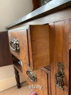 Antique Art Nouveau/Arts and Crafts Washstand & Ceramic Washstand Set