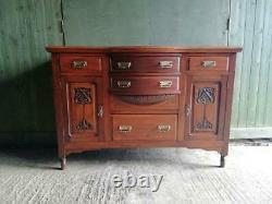Antique Art nouveau C. 1880's Mahogany sideboard / dresser