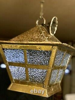 Antique Arts And Crafts Copper/Brass Pagoda, Porch Hall Lantern