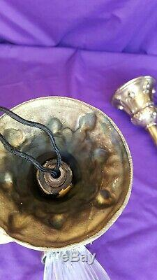 Antique Arts And Crafts Pair of Brass Pendants