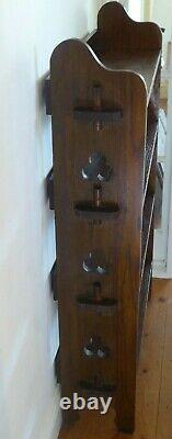 Antique Arts and Crafts Four Shelf Bookcase in Oak