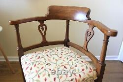 Antique Arts and Crafts Oak Corner Chair