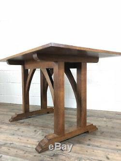 Antique Arts and Crafts Oak Dining Table or Kitchen Table Delivery Available
