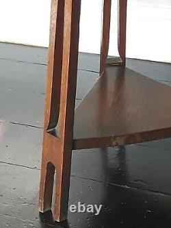 Antique Arts and Crafts Wooden Oak Side / Occasional Table in Liberty Manner