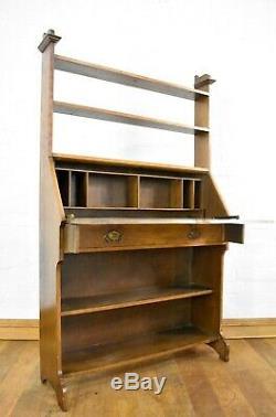 Antique Arts and Crafts bureau bookcase desk