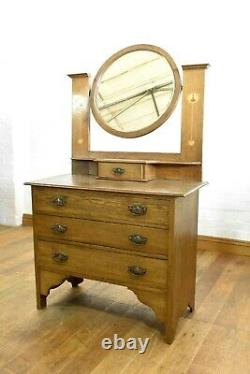 Antique Arts and Crafts dressing table chest of drawers vanity unit