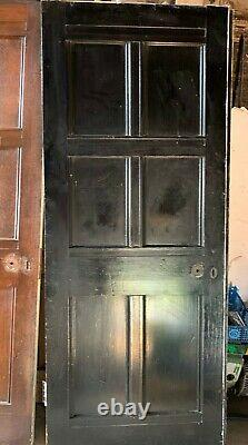 Antique Arts and Crafts quarter sawn oak panelled room with 12 matching doors