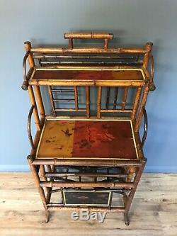 Antique Bamboo Magazine Stand / Shelf / Hallstand Arts And Crafts