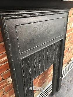 Antique Cast Iron Fireplace / Fire Surround Victorian Arts And Craft