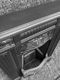 Antique Cast Iron Victorian / Arts And Crafts Fireplace /fire Surround / Uk Del