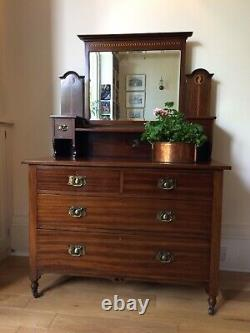 Antique Chest of drawers/ dressing table with mirror. Arts and Crafts