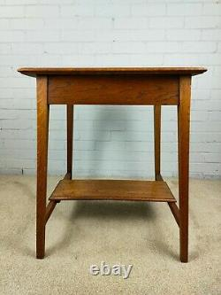 Antique Early 20thC Arts and Crafts Oak Occasional Table
