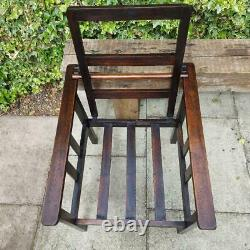 Antique Edwardian Arts and Crafts Sofa Chair Morris style Parlor Chair Lounge