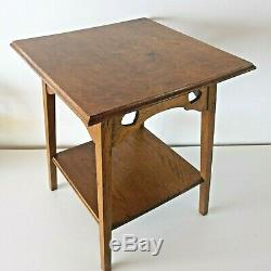 Antique Golden Oak Liberty style Arts and Crafts Side / Sofa / Lamp Table c. 1910