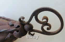 Antique Gothic or Arts and Crafts lantern Light lamp and Wall Bracket