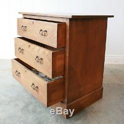 Antique HARRIS LEBUS Arts and Crafts Oak Chest of Drawers c1905 3 Drawer Small