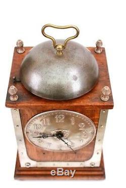 Antique Liberty Co Arts and Crafts German Alarm Jugendstil Clock Circa 1900
