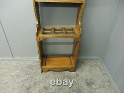 Antique Oak Arts And Crafts Hallstand
