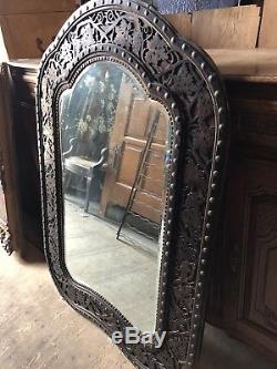 Antique Oak Arts And Crafts William Morris Style Mirror
