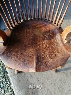 Antique Oak Captains / Office / Arts And Crafts Chairs