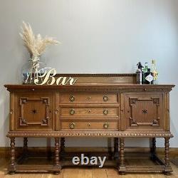 Antique Oak Sideboard/ Oak Buffet Server / Antique Arts And Crafts /Oak Cupboard