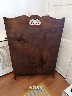 Antique Oak Waterfall Bookcase Oak Arts And Crafts Art Nouveau