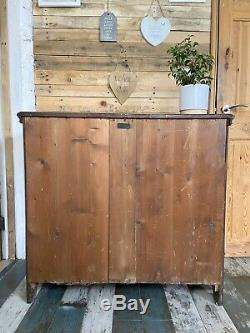 Antique Painted Black Arts and Crafts Period Cupboard Cabinet Sideboard