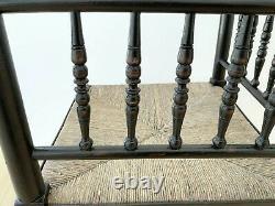 Antique Rush Seated Arts And Crafts William Morris, Liberty Sussex Corner Chair