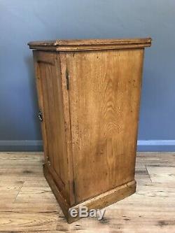 Antique Solid Oak Bedside Cabinet Side Table Arts And Crafts