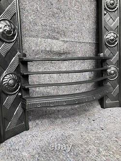 Antique Victorian / Arts And Crafts Cast Iron Fireplace / Fire Surround Uk Deliv