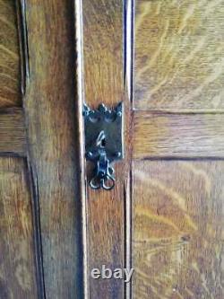 Antique Victorian Arts and crafts Oak sideboard / Hall / school cupboard