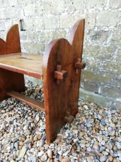Antique Victorian Arts and crafts handmade Pine stool