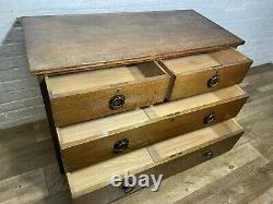 Antique Vintage Arts And Crafts Solid Oak Chest Of Drawers. Delivery Available